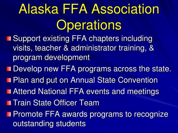 Alaska FFA Association Operations