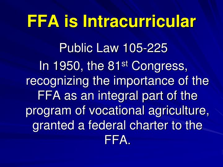 Ffa is intracurricular