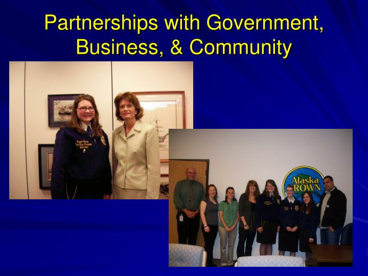 Partnerships with Government, Business, & Community