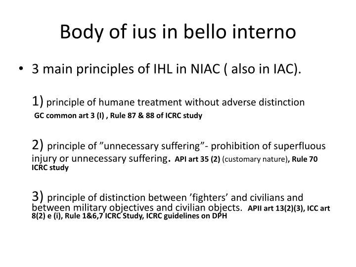 Body of ius in bello interno