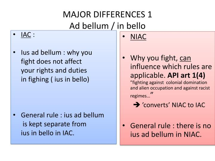 MAJOR DIFFERENCES 1