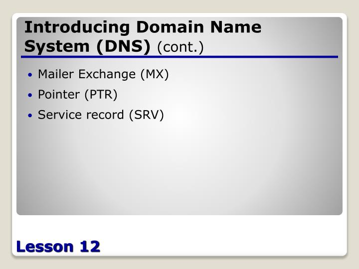 Introducing Domain Name System (DNS)