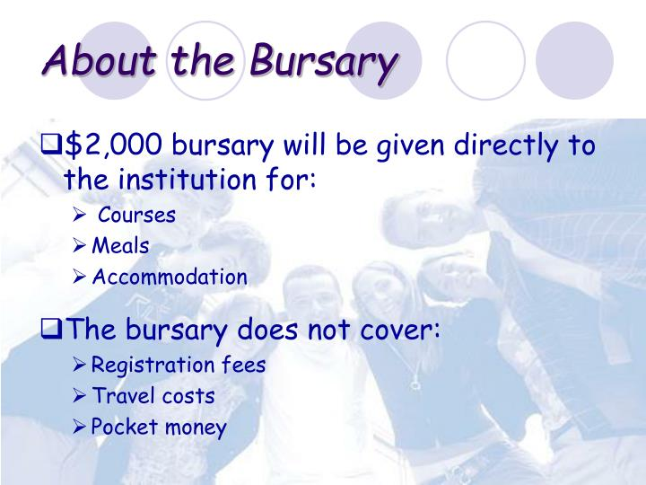 About the Bursary