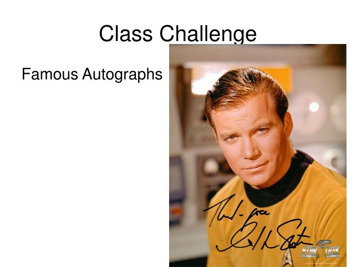 Class Challenge