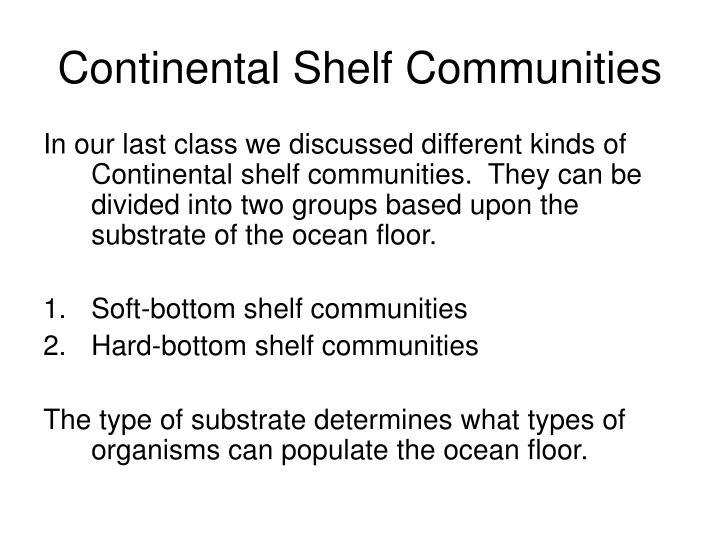 Continental Shelf Communities