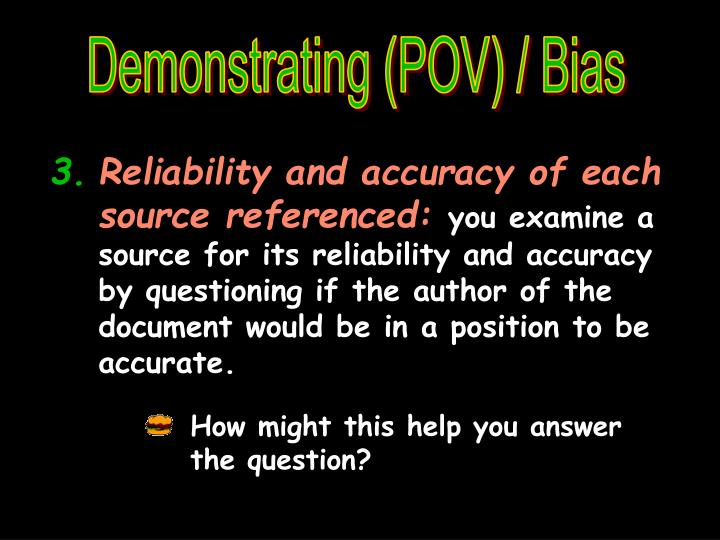 Demonstrating (POV) / Bias