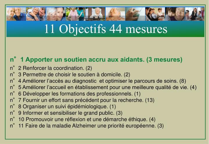 11 Objectifs 44 mesures