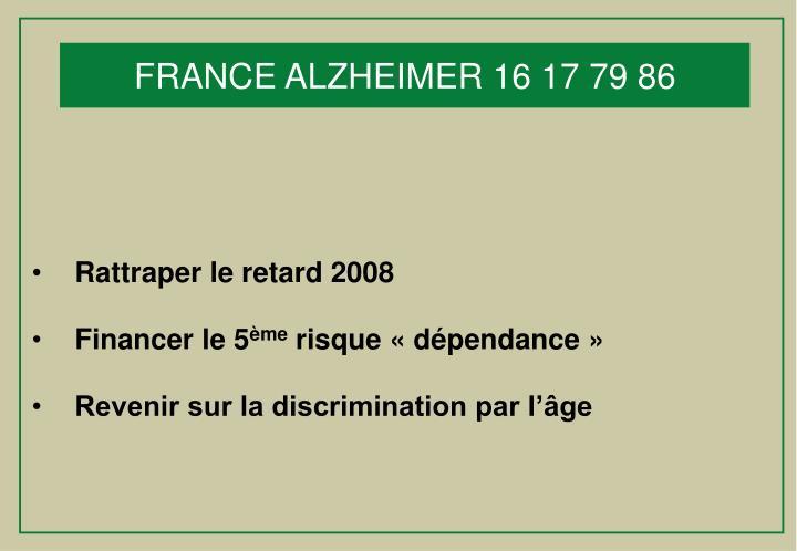 FRANCE ALZHEIMER 16 17 79 86