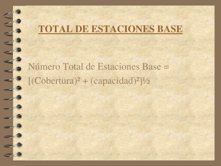TOTAL DE ESTACIONES BASE