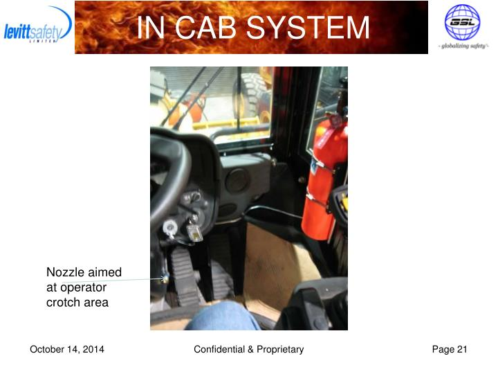 IN CAB SYSTEM