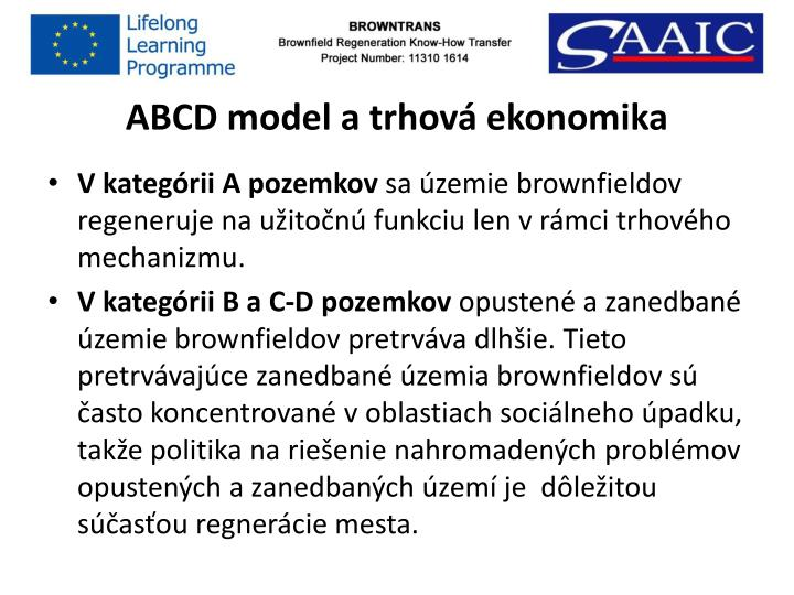ABCD model a trhová ekonomika