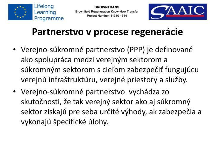 Partnerstvo v procese regenerácie