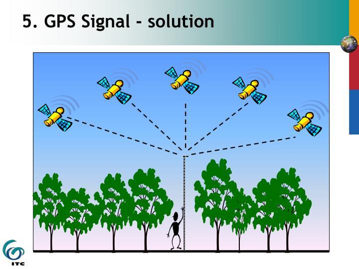 5. GPS Signal - solution