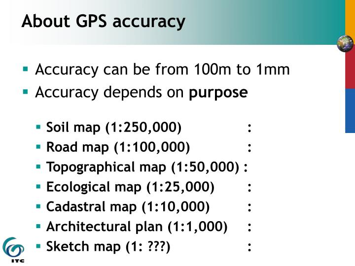 About GPS accuracy