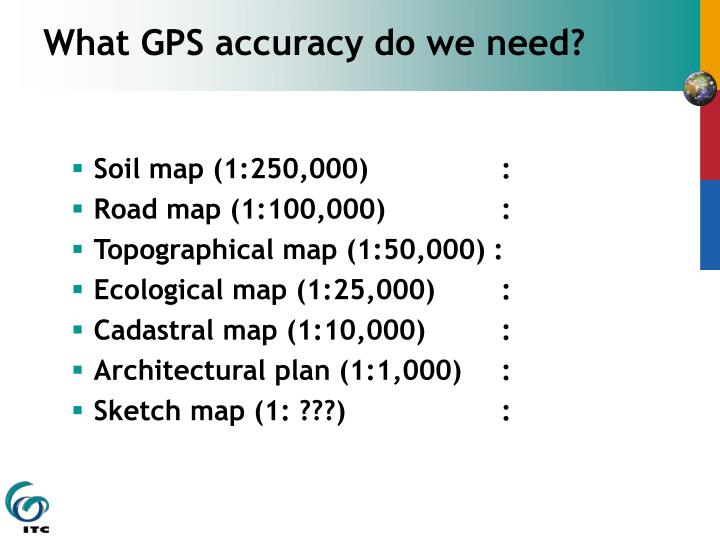What GPS accuracy do we need?