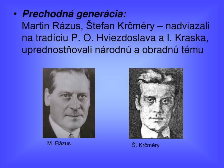 Prechodná generácia: