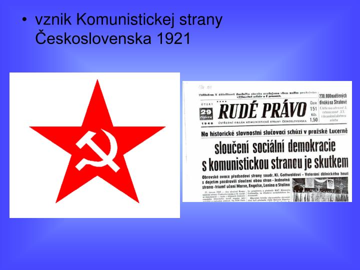 vznik Komunistickej strany Československa 1921