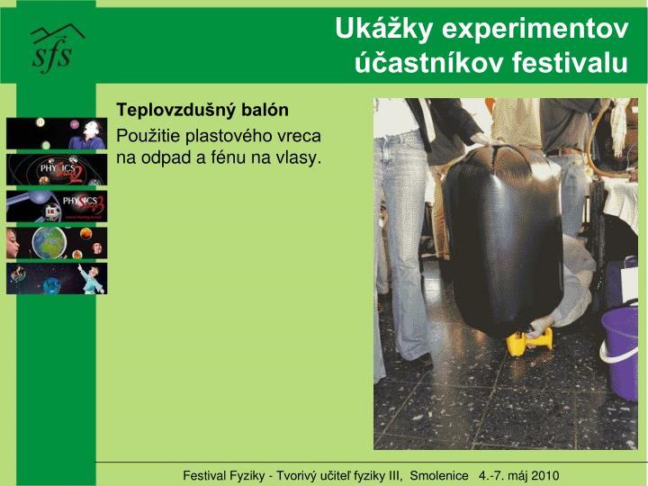 Ukážky experimentov