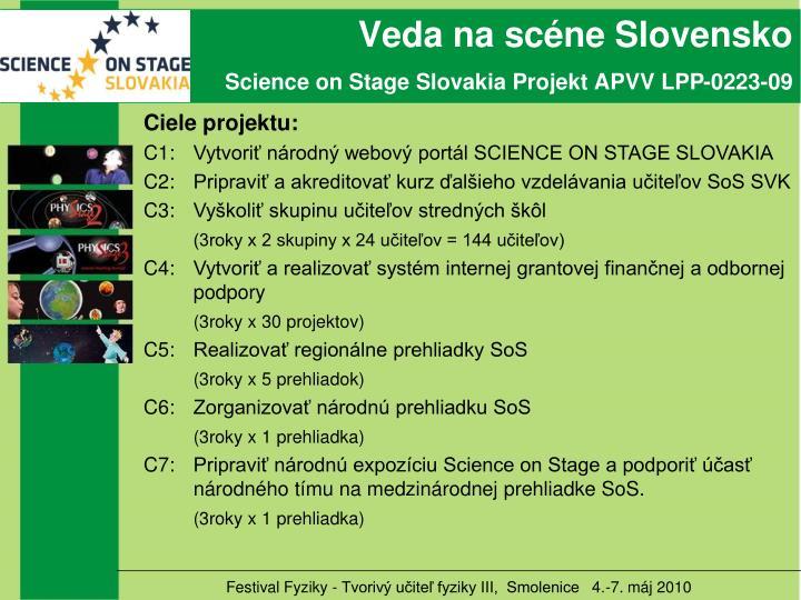 Veda na scéne Slovensko