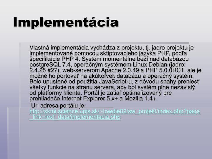 Implementácia