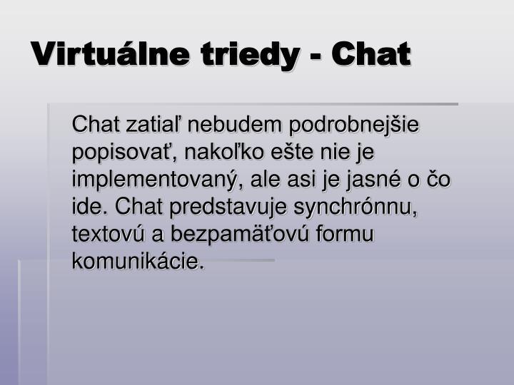 Virtuálne triedy - Chat