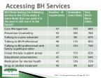 accessing bh services