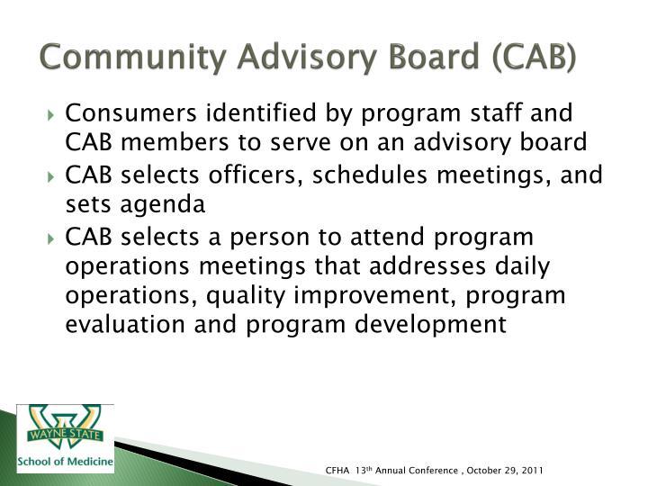 Community Advisory Board (CAB)