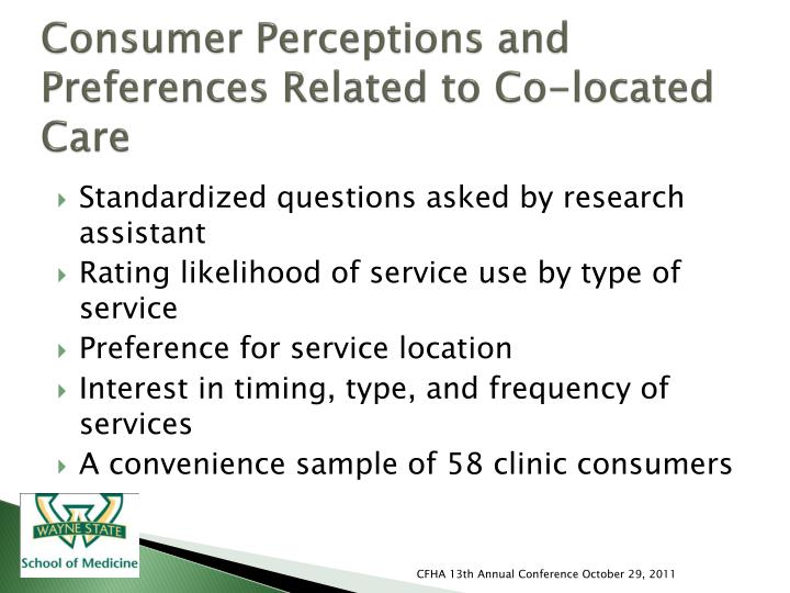 Consumer Perceptions and Preferences Related to Co-located Care