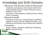 knowledge and skills domains