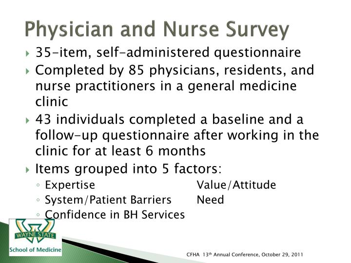 Physician and Nurse Survey