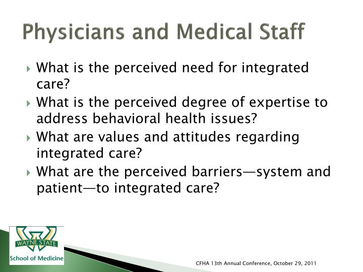 Physicians and Medical Staff