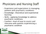 physicians and nursing staff