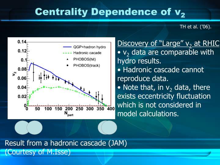 Centrality Dependence of v