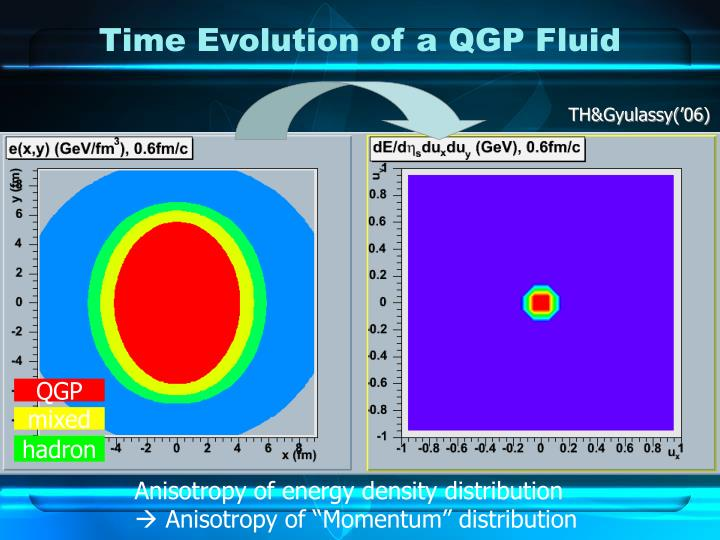 Time Evolution of a QGP Fluid