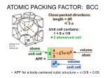 atomic packing factor bcc