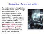 comparison amorphous solids