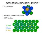 fcc stacking sequence
