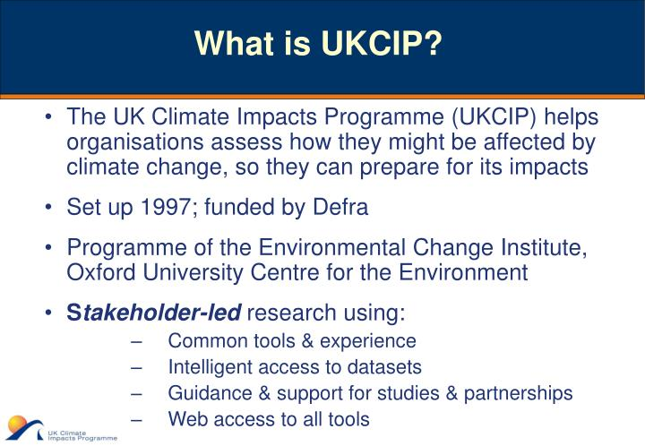 What is ukcip