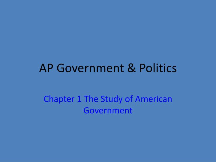Ap government politics