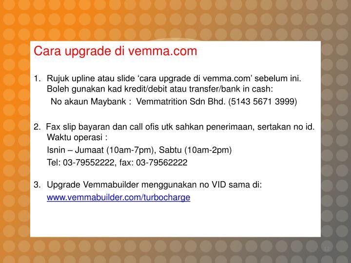 Cara upgrade di vemma.com