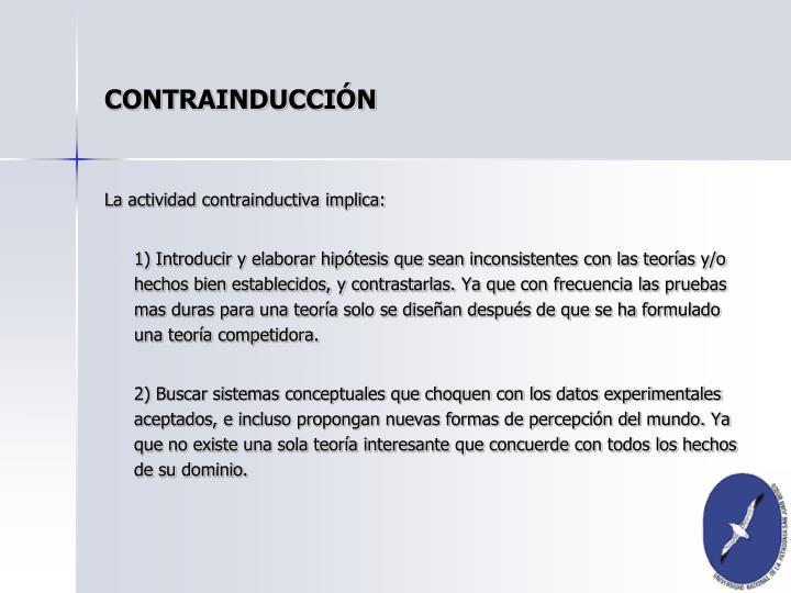 CONTRAINDUCCIÓN