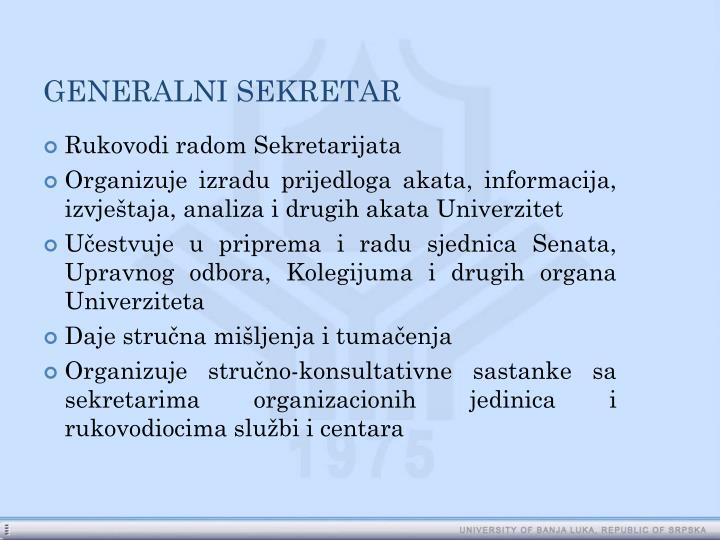 GENERALNI SEKRETAR