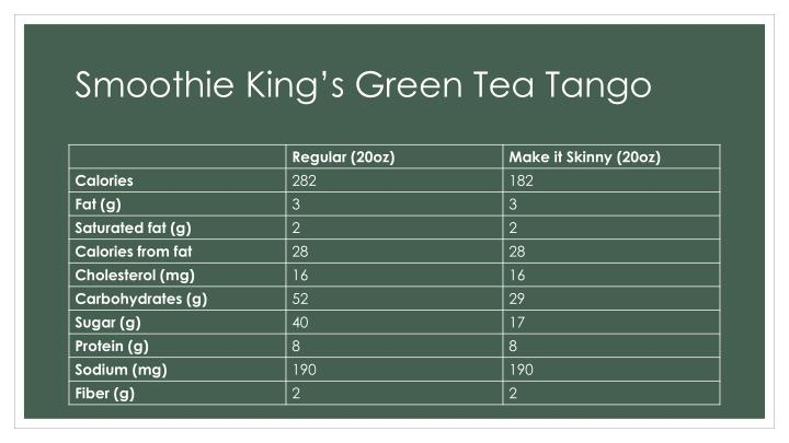 Smoothie King's Green Tea Tango