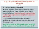 2 5 lot 5 publication on youth in europe