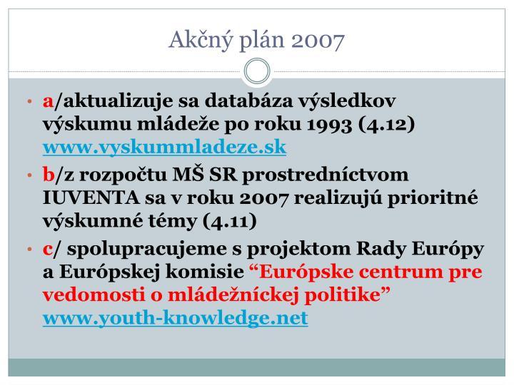 Akčný plán 2007