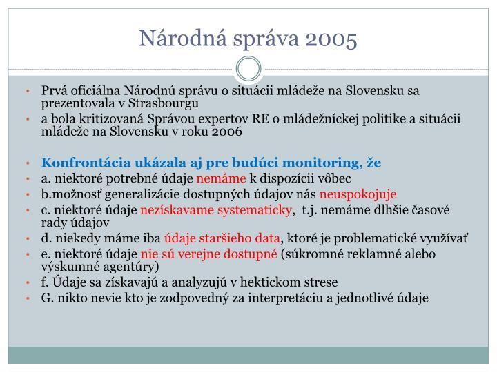 Národná správa 2005