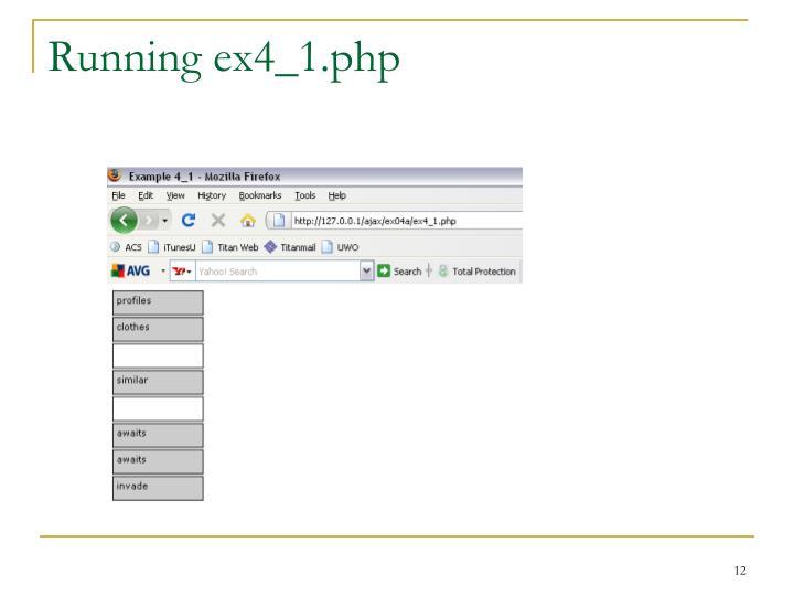 Running ex4_1.php