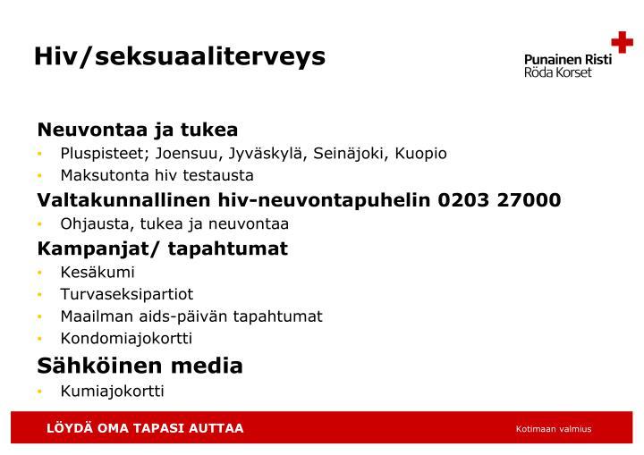Hiv/seksuaaliterveys