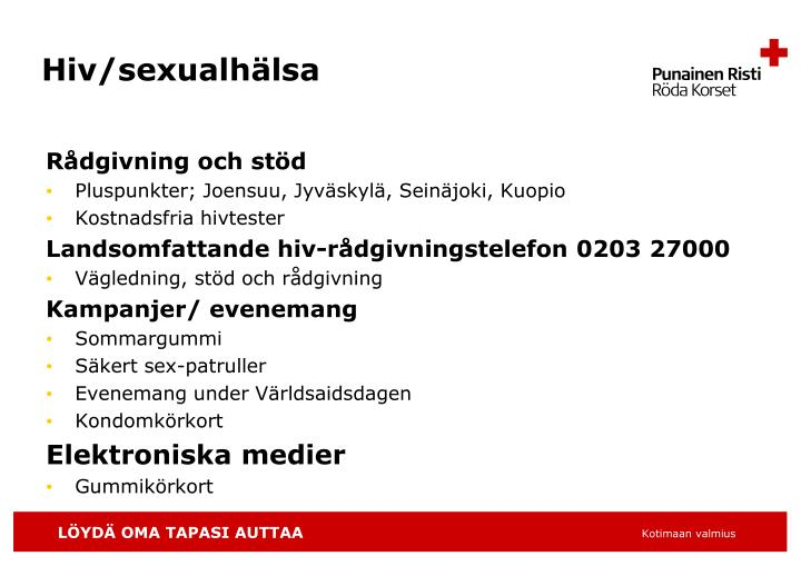 Hiv/sexualhälsa