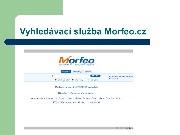 Vyhledávací služba Morfeo.cz
